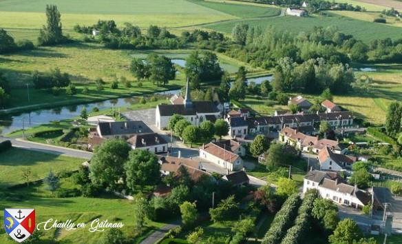 Image vue du bourg de Chailly en Gâtinais