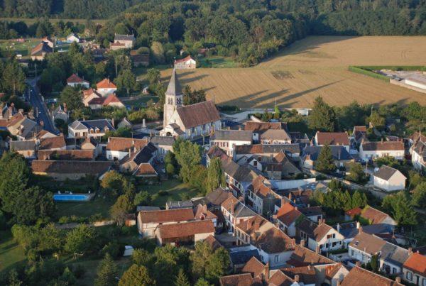 Photo vue aérienne commune Chuelles